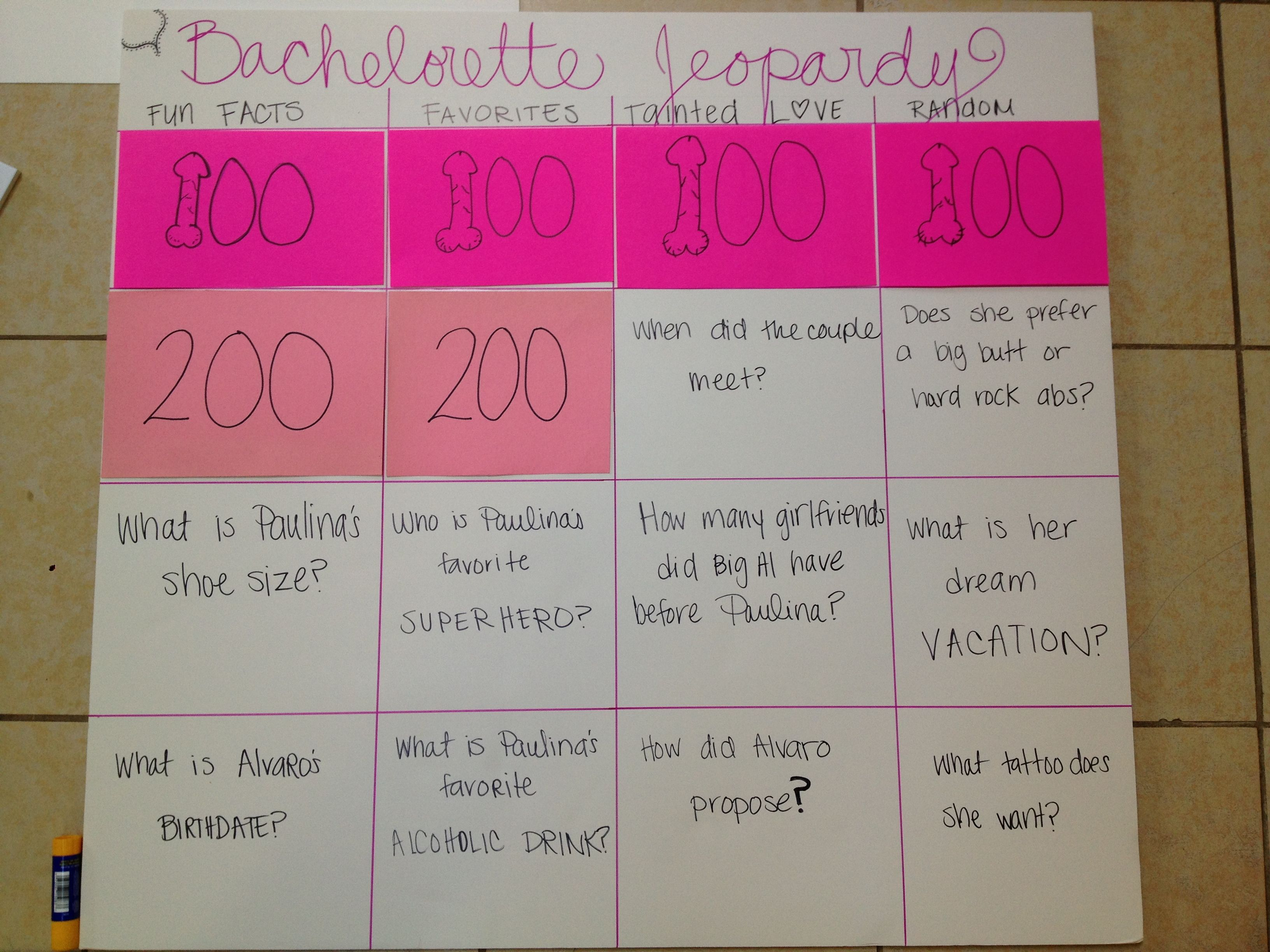 Bachelorette Party Jeopardy