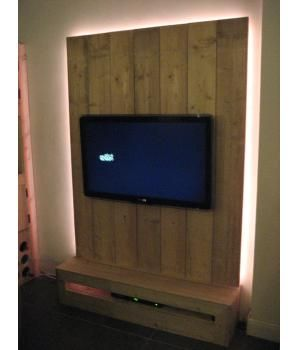 Tv wandmeubel steigerhout google zoeken idee n voor for Steigerhout wandmeubel