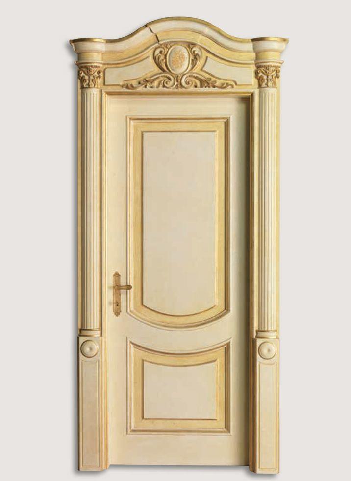 Bedroom Door Decorations Classical: LUIGI XVI 4014/QQ Coated Sponged White-gold With