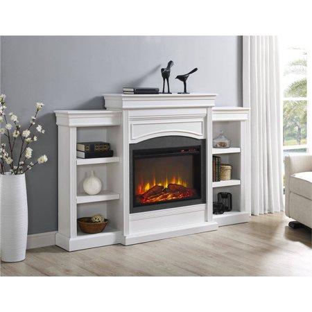 Ameriwood Home Lamont Mantel Fireplace White Walmart Com