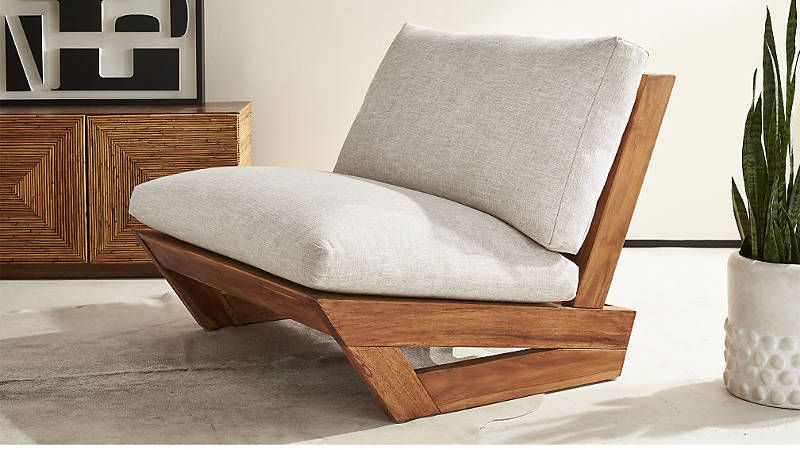 Sick Of Winter Check Out Cb2 S Pool Party Collab With Fred Segal Los Angeles Freshome Com Teak Lounge Chair Furniture Teak Patio Furniture