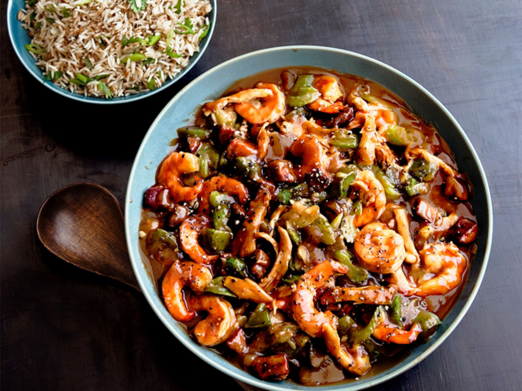 Shrimp and chicken etouffee recipe gimme that protein get this all star easy to follow shrimp and chicken etouffee recipe from food network kitchen forumfinder Gallery