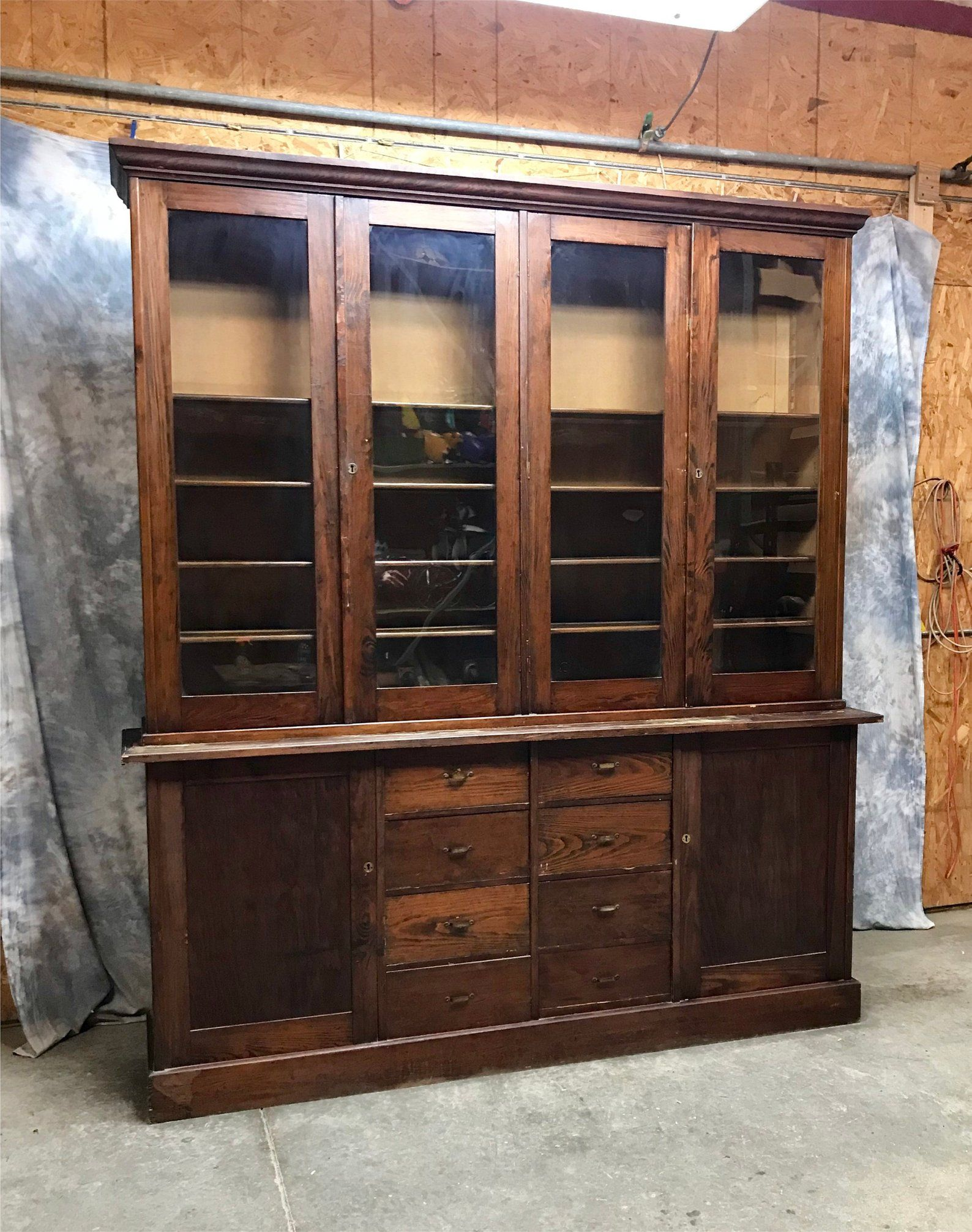8 Antique Display Cabinet Gl Doors