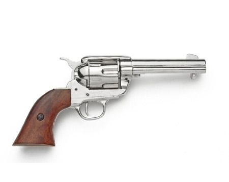 """Carry the six-gun that won the west! The Model 1873 Colt """"Peacemaker"""" was the ubiquitous old west firearm, carried by Wyatt Earp, Pat Garrett, and Bat Masterson."""