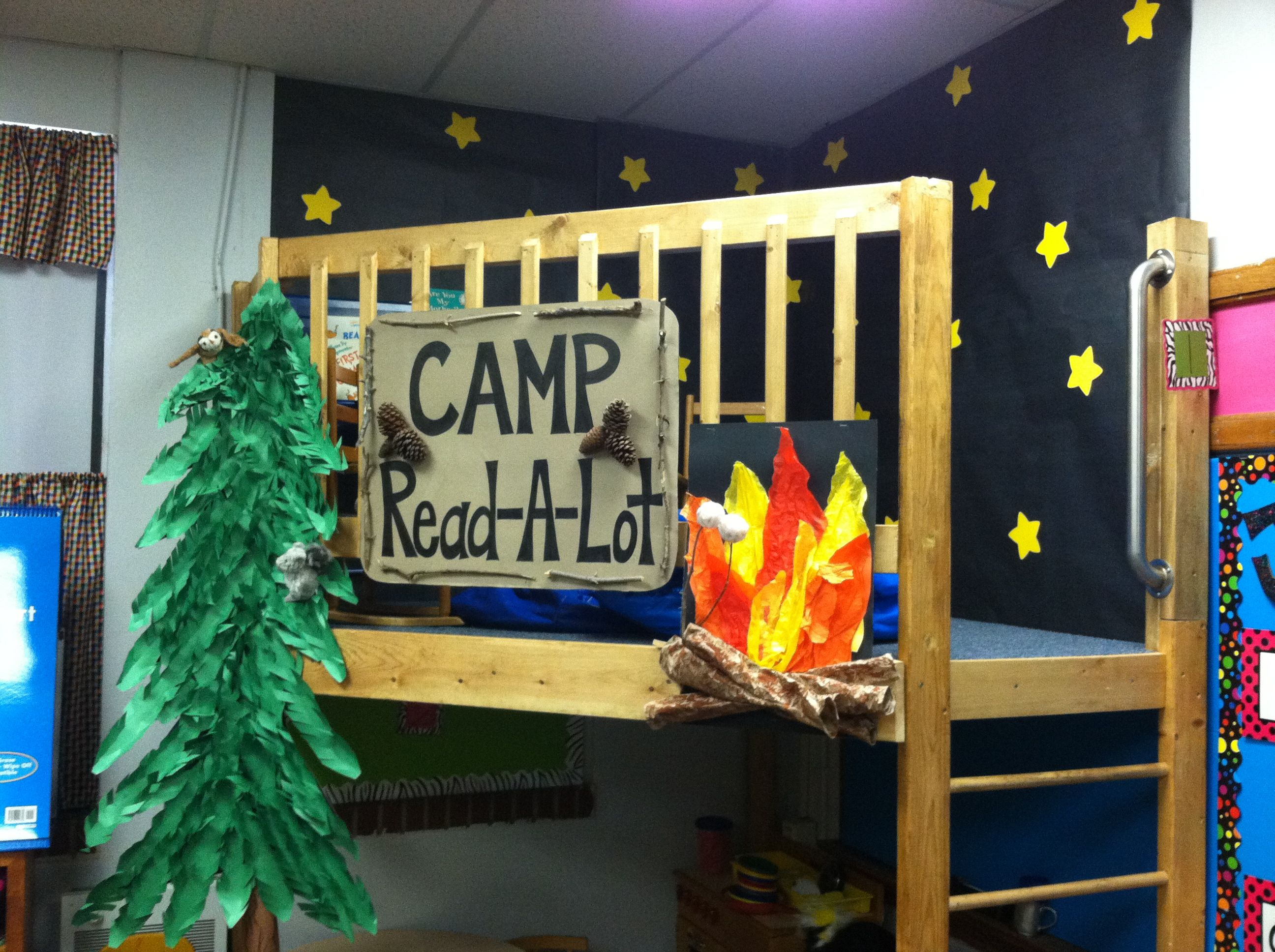 My Camp Read A Lot Loft For Her Classroom The Ladder