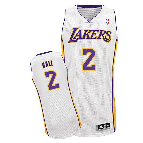 7271b63cd5f Lakers  2 Lonzo Ball White Stitched NBA Jersey