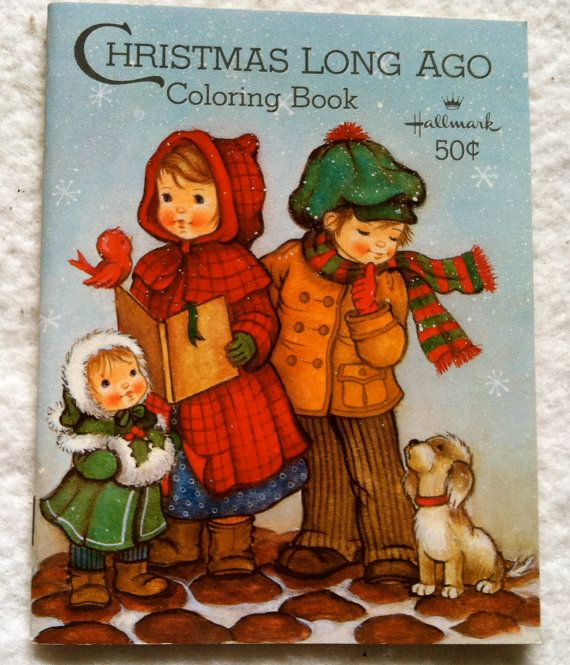 Vintage Hallmark Christmas Long Ago Coloring Book By LadyLindaLou
