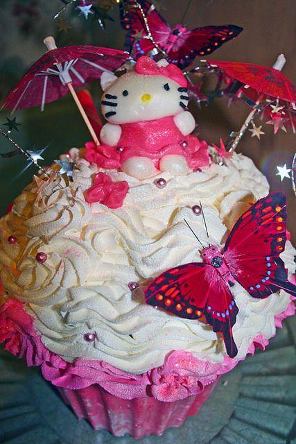 Giant Hello Kitty Cupcake Cake