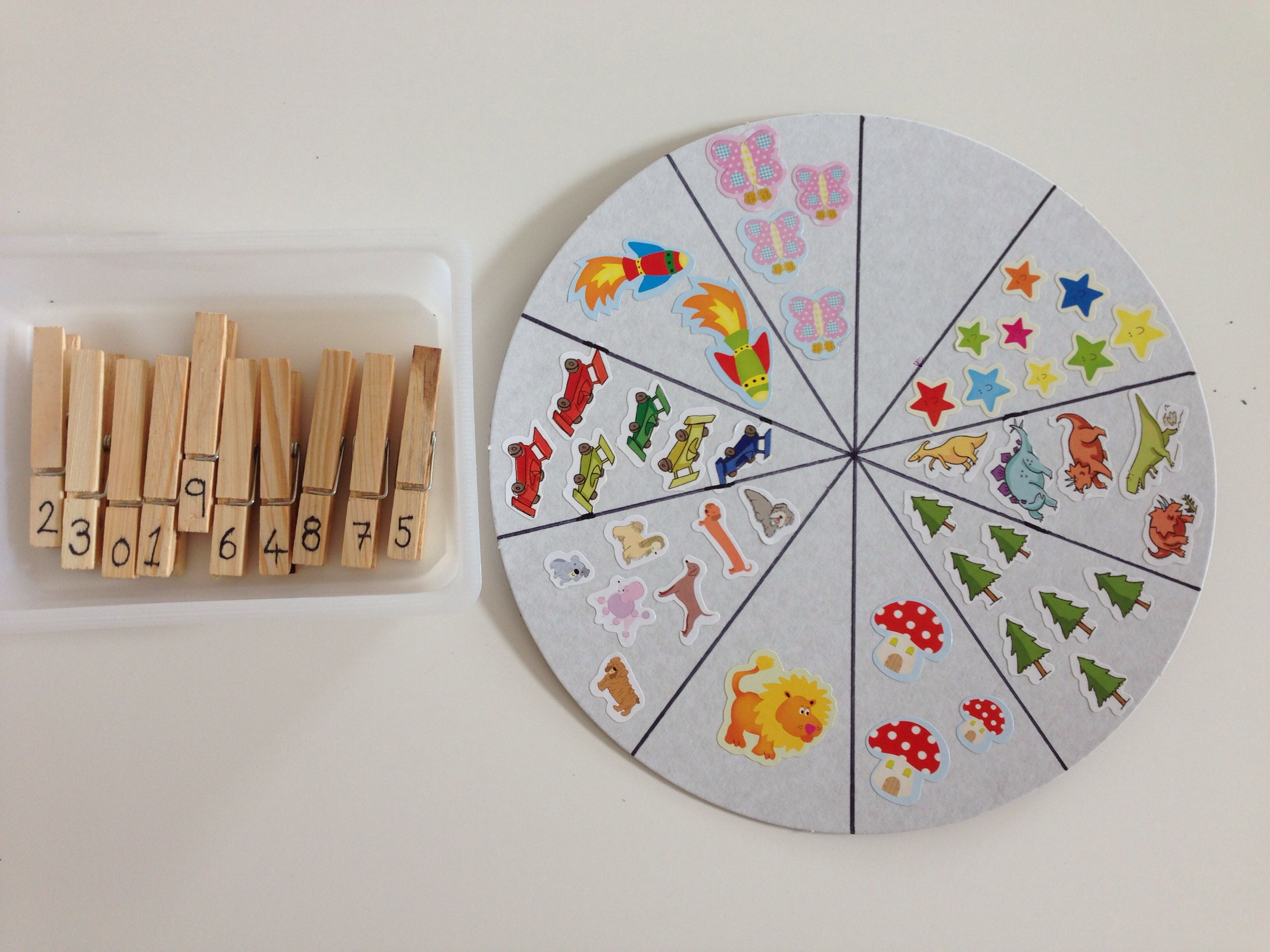 Montessori Inspired Fine Motor And Number Recognition Activity Using Clothes Pegs And A
