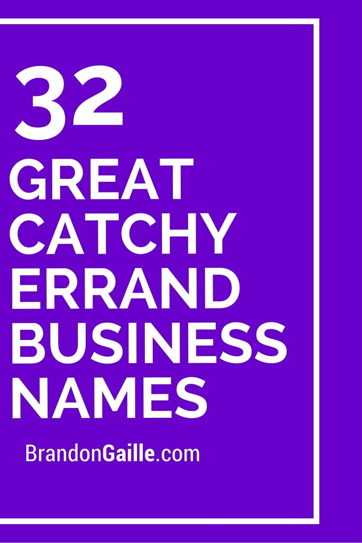 101 great catchy errand business names