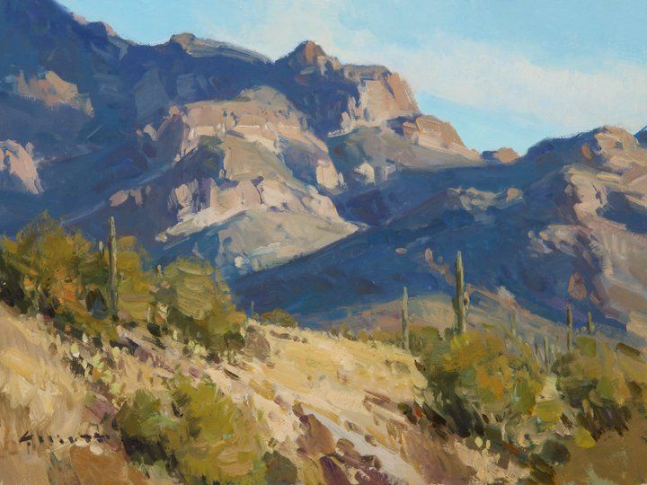 "Josh Elliott ""Superstitions Evening"" 9x12"