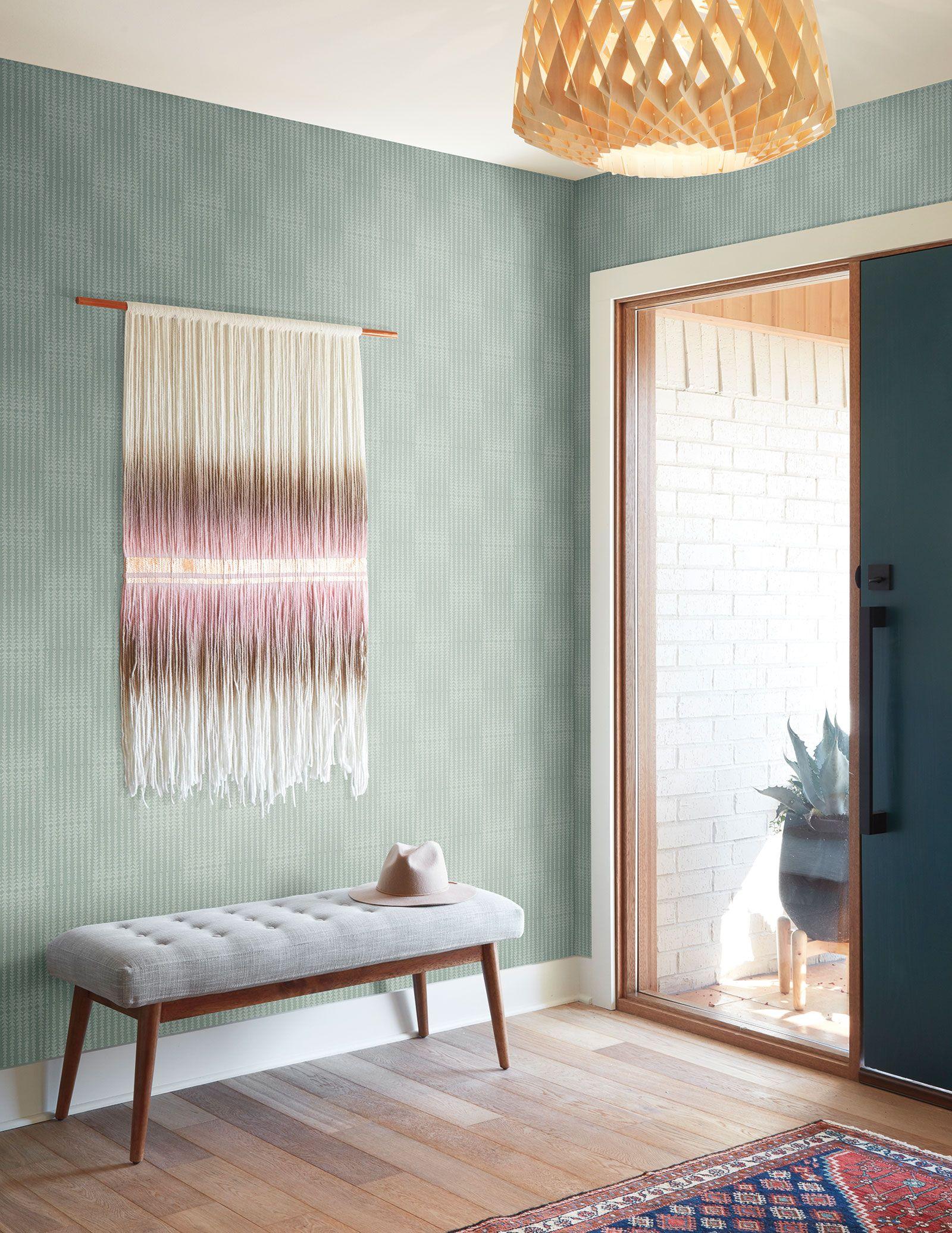 Magnolia Home Vantage Point Wallpaper Blue/Green