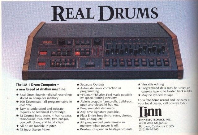 this the linn lm 1 was the drum machine responsible for the sounds on michael jackson 39 s. Black Bedroom Furniture Sets. Home Design Ideas
