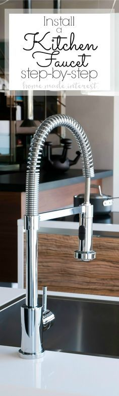 A simple DIY tutorial on how to install a kitchen faucet. Whether you are going through a kitchen remodel or just replacing an old faucet this is a home improvement DIY that anyone can do. Sponsored | KohlerIdeas