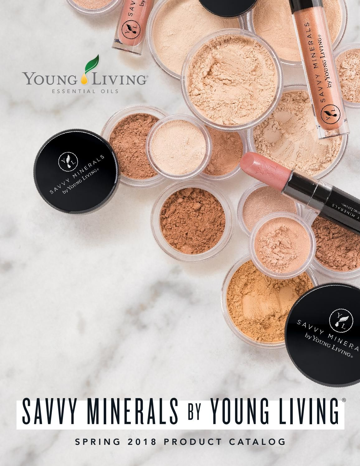 2018 Savvy Minerals by Young Living Product Catalog