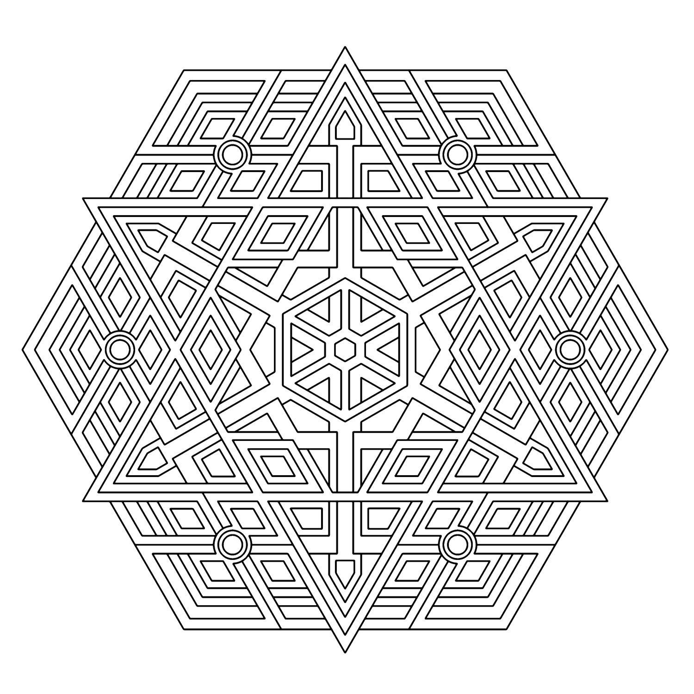Triplexgeometrycoloringpagesg pintando mandalas pinterest