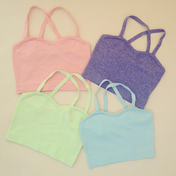 New colors in the Knit Bralette! Which one is your favorite?  #pastels #knits