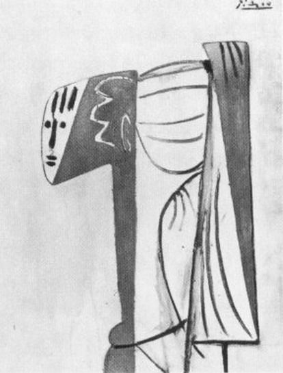 adreciclarte — Pablo Picasso - Portrait de Sylvette David, 1954