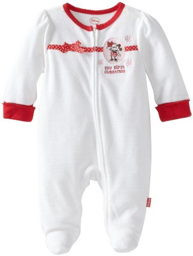 Disney Baby-Girls Newborn Minnie Mouse My First Christmas Romper ...
