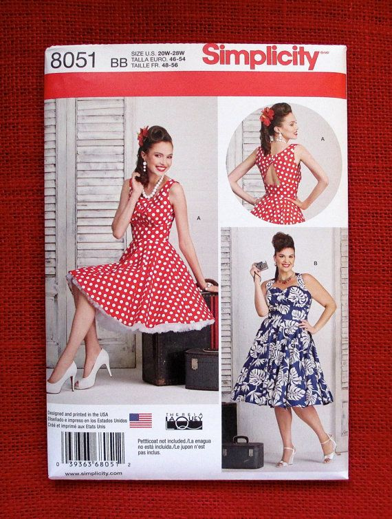 Simplicity Sewing Pattern 8051 Dresses, Rockabilly 1950\'s ...