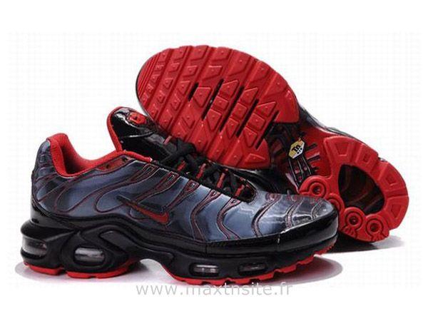 Chaussures de Nike Air Max Tn Requin Homme Bleu foncé et Rouge Tn Nike Pas  Chere