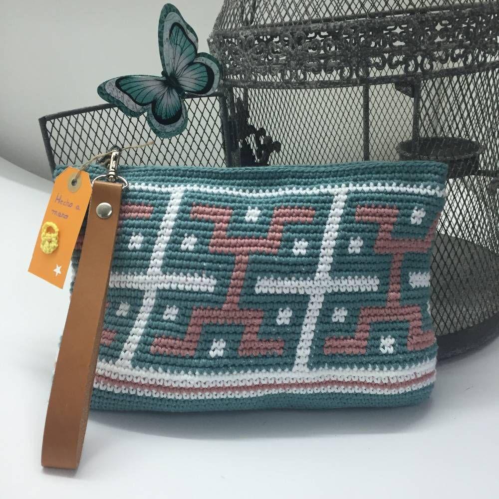 Bolsos de ganchillo DIY estilo azteca con 3 ovillos de hilaturas LM ...