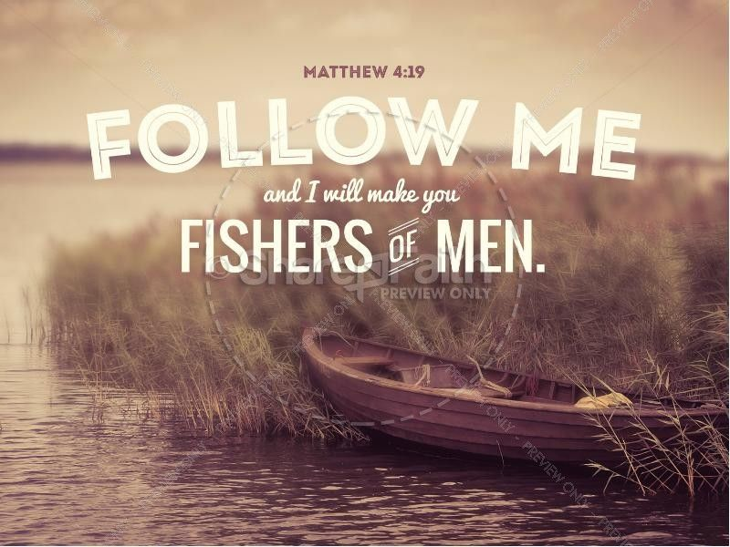 Come Follow Me Fishers Of Men Sermon PowerPoint | Church