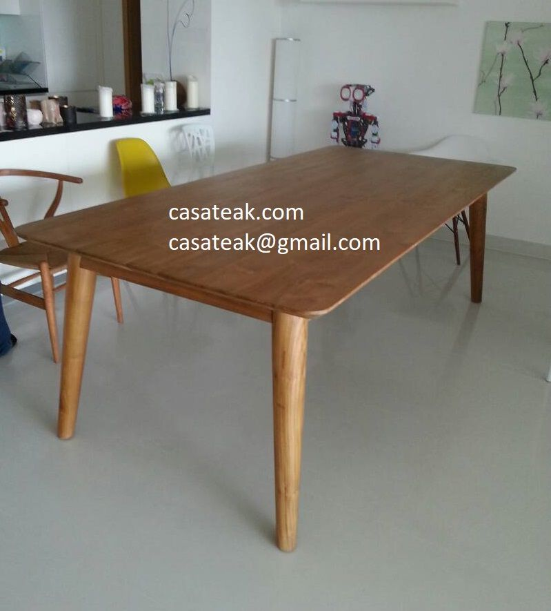 Teak Wood Slim Design Dining Table In Malaysia Teakwood