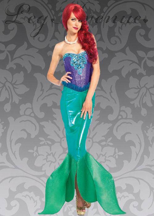 Mermaid Adult Womens Leggings Green Leg Avenue