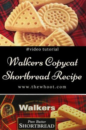Copycat Walkers Shortbread Recipe 3 Ingredients | The WHOot