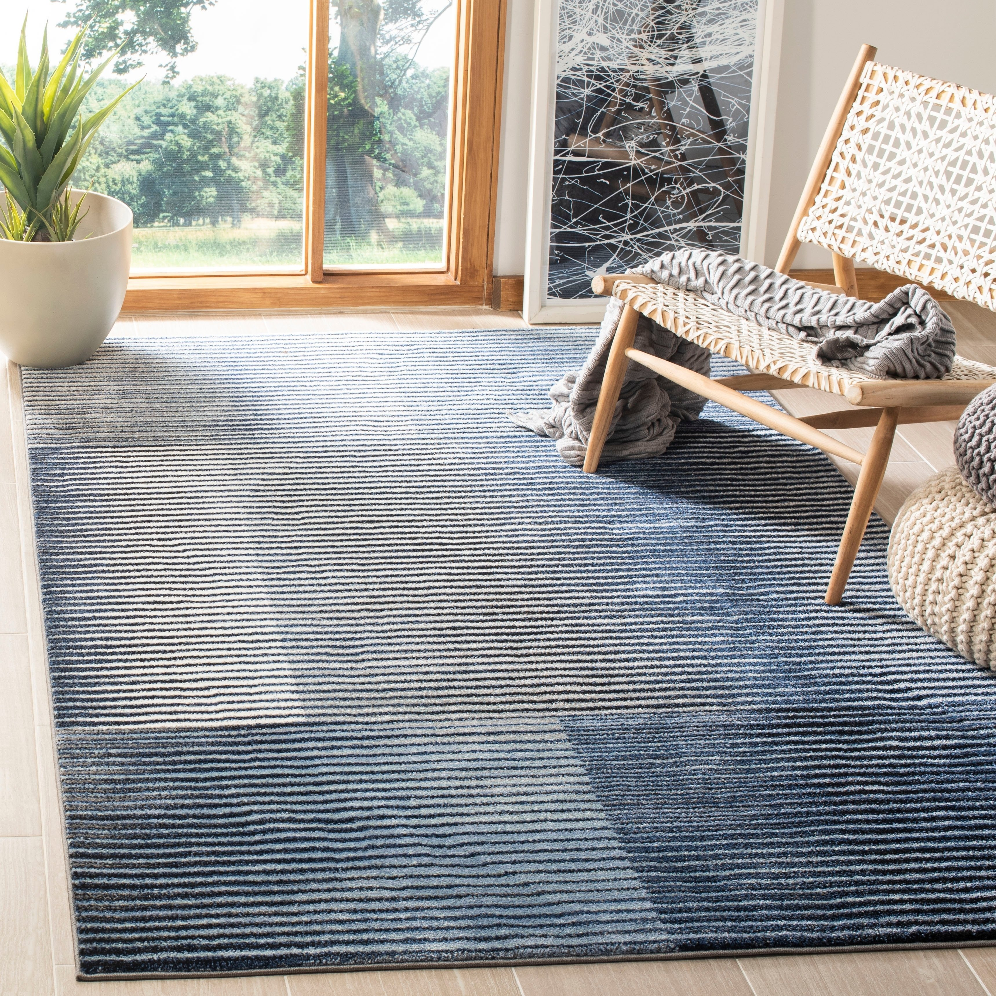 Safavieh Galaxy Transitional Blue Navy Rug 9 X 12 9 X 12 Blue Navy Polypropylene Abstract Products In 2019 Rugs Navy Rug Colorful Rugs