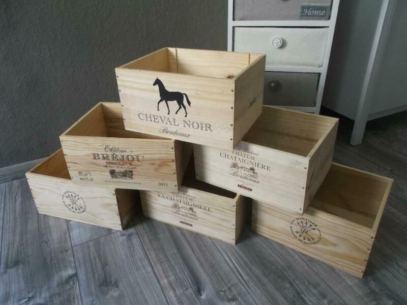 Verkaufe Neue Und Robuste Weinkisten Aus Massiven Holz Auch Zum Aufbewahren Anderer Sachen Nutzbar Weinkiste Holzki Holzkisten Weinkisten Kiste