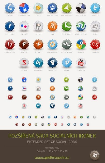 Free Social Media Icons: Huge Extended Set of Social Media Icons