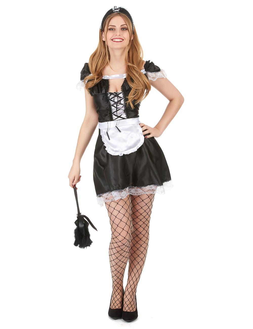 Ragazze Halloween Fantasia Abito Bianco e Nero Harlequin Calze