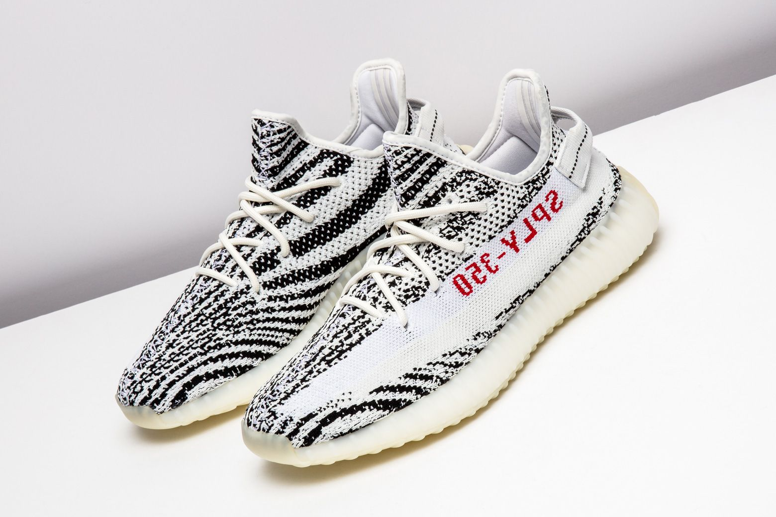 adidas went the experimental route with this zebra-inspired Yeezy Boost 350  V2. http