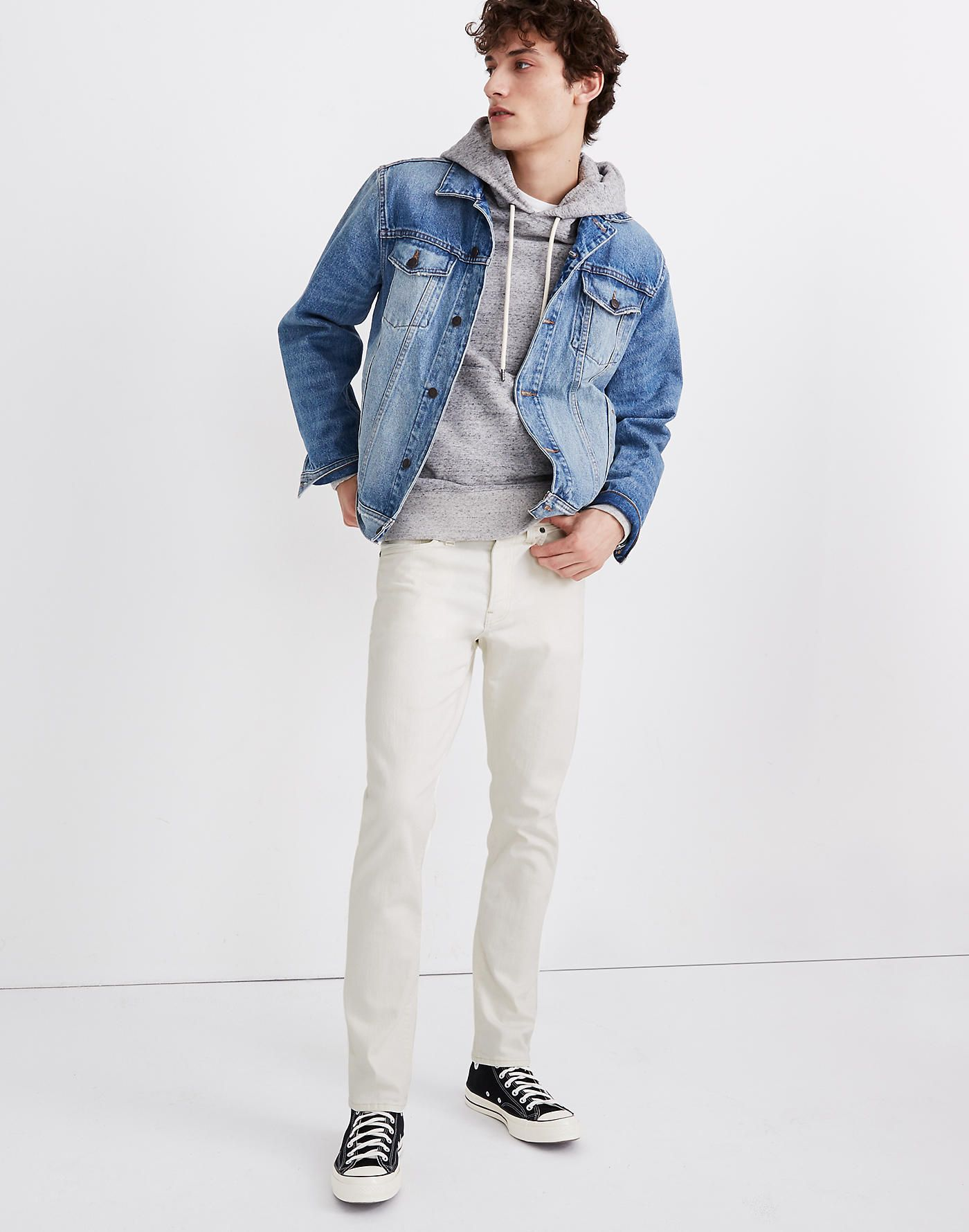 Slim Authentic Flex Jeans In Lighthouse Wash In 2021 Streetwear Men Outfits Blue Outfit Men Jean Jacket Outfits Men [ 1779 x 1400 Pixel ]
