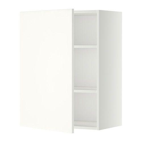 METOD Nástenná skrinka s policami - biela, Häggeby biela, 60x80 cm