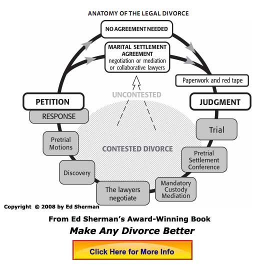Diagram of the anatomy of a divorce--created by divorce expert ...