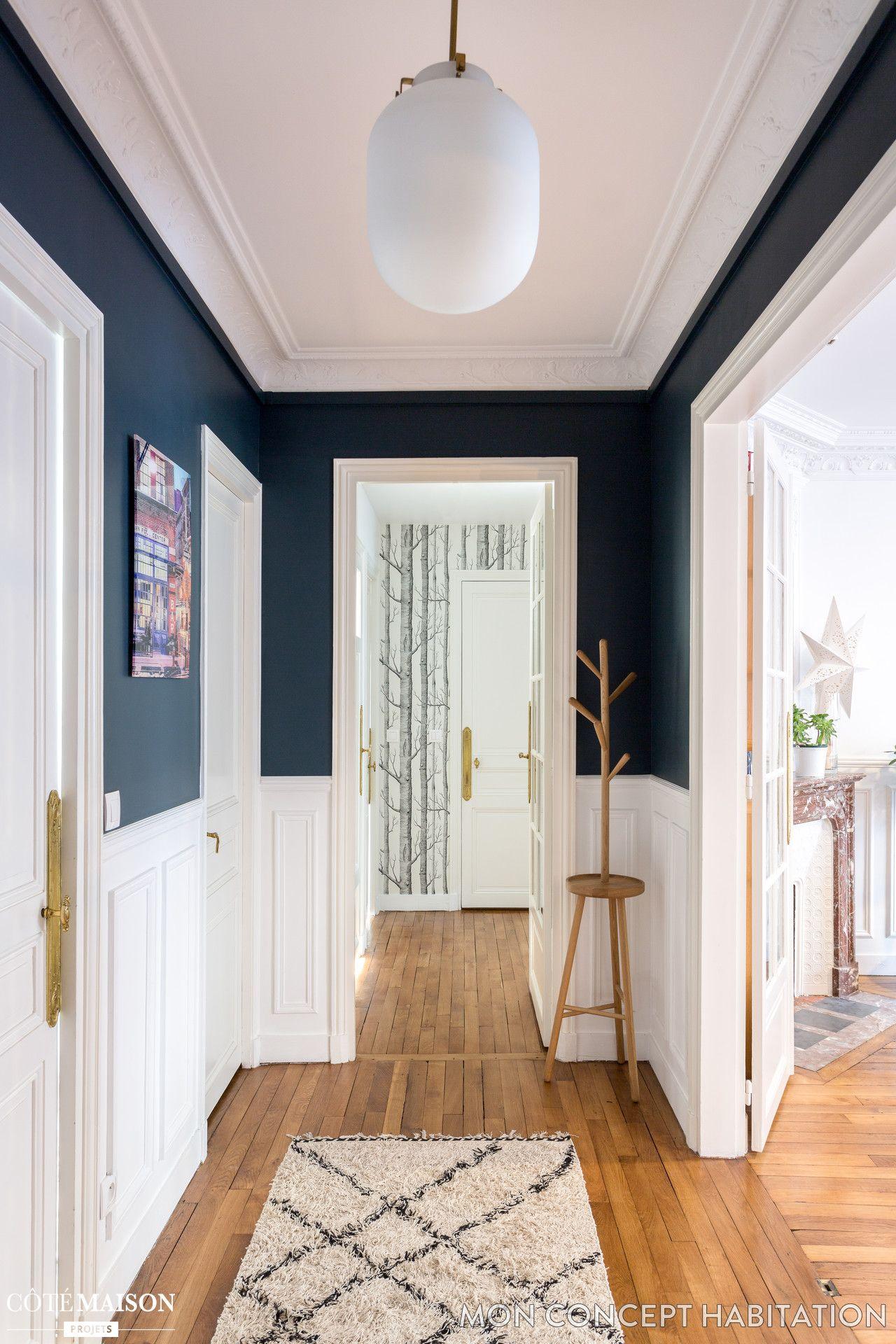 Une entr e accueillante en bleu et blanc maison de r ve for Une entree de maison