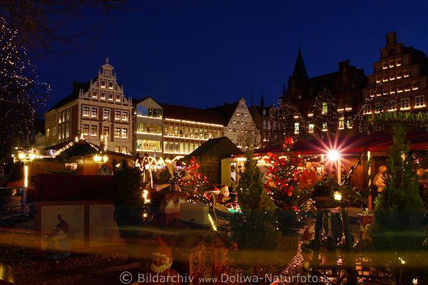 Luneburg Am Markt Weihnachtszeit Fotos Altstadt Adventlichter Romantik Panorama Christmas Market Lueneburg Germany Altstadt Weihnachtszeit Romantik