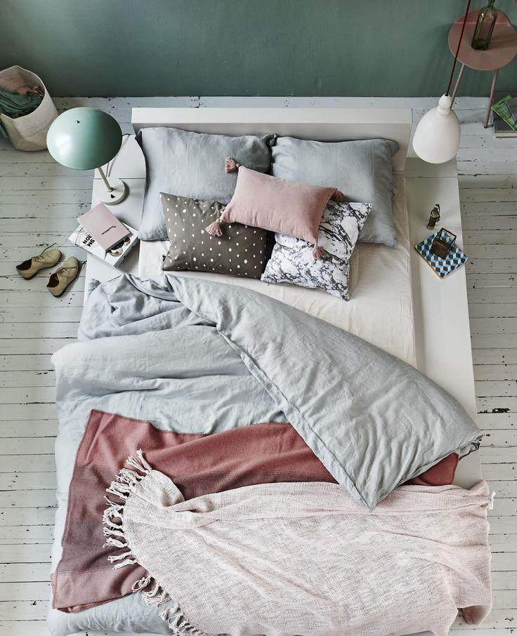 pastel slaapkamer styling: Cleo Scheulderman photo: Jeroen van der ...