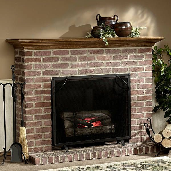 Superb Image Of Traditional Brick Fireplace Fireplace Ideas In Download Free Architecture Designs Itiscsunscenecom