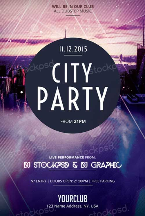 pin by denis bednjanec on flyers pinterest free psd flyer psd flyer templates and city party - Free Psd Flyer Templates
