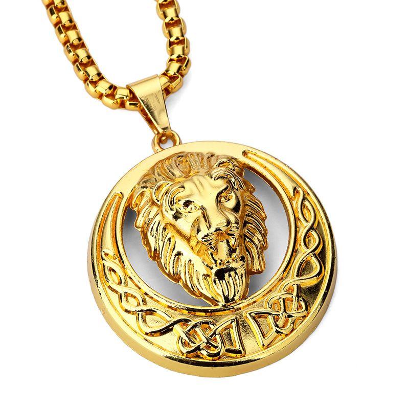 Sale fashion hip hop lion head pendants necklaces men long chains sale fashion hip hop lion head pendants necklaces men long chains design punk rock filling pieces mozeypictures Gallery