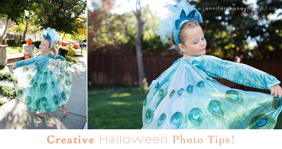 How to Take Creative Halloween Pictures - don't just go for the boring photos of your kids in their costumes... have fun! - by Jennifer Chaney, family photographer #halloween #pictures #photographytips