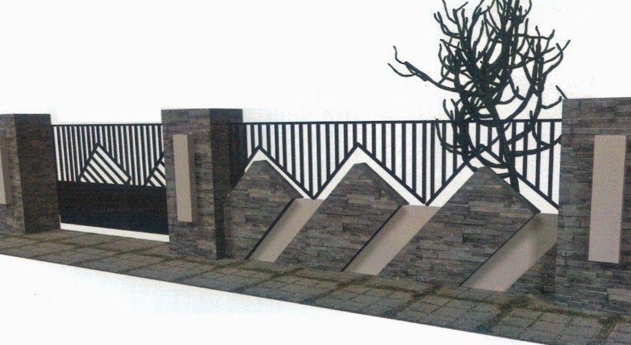 70 Model Pagar Rumah Minimalis (Kayu Dan Besi) - Dalam Membangun Sebuah  Rumah, Pagar Merupakan Satu Komponen Yang Cuk…   Eksterior Modern, Ide Pagar,  Desain Dinding