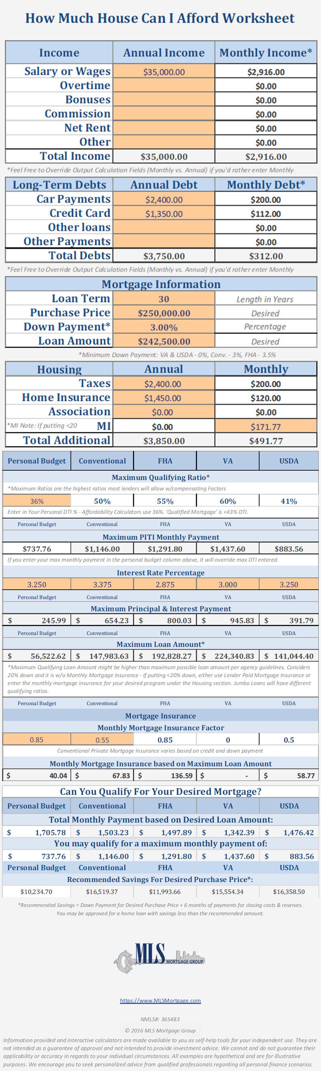 New Fha Streamline Worksheet