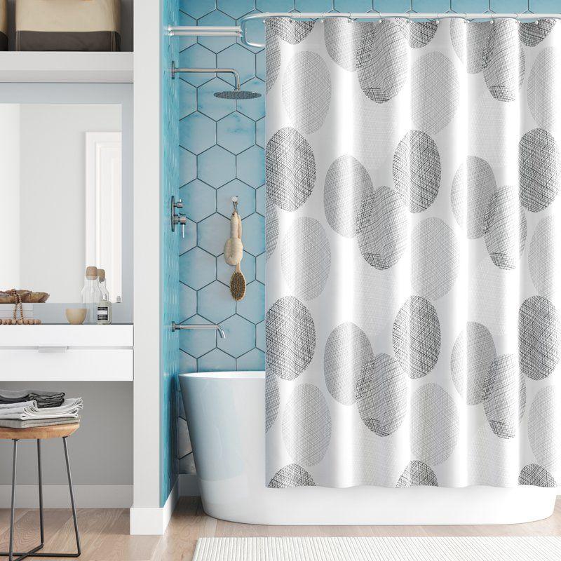 Jeske Microfiber Single Shower Curtain Bathroom Furniture Design