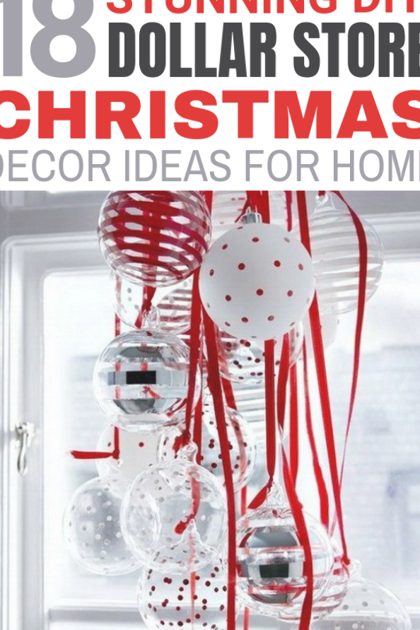 I absolutely LOVE all of these Dollar Store Christmas ideas! The snow village is my absolute favorite. I have a very small Christmas budget this year and this is exactly what I needed. Most Dollar Store crafts look cheap but I will definitely try some of these DIY Christmas crafts in my home! #dollarstore #christmasdecorations #christmasdecorationideas #christmascrafts