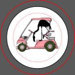 Fun Flamingo Golf Cart Earrings | Zazzle